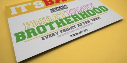 'Friday Night Brotherhood' Flyer